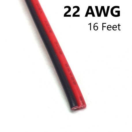 2 Conductor Cable, 22 AWG, 16 ft