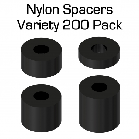 Black Nylon Spacer Variety 200 Pack