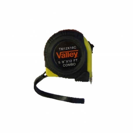 "Measuring Tape, 5/8"" x 12ft, Inch & Metric Combo"