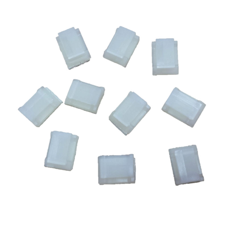 Self-Adhesive Wire Holding Clip, White, 10 pack - Robosource.net
