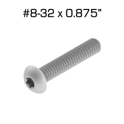 "Star Drive Screws, 8-32 x 0.875"", 100 pack"