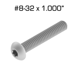 "Star Drive Screws, 8-32 x 1.000"", 100 pack"