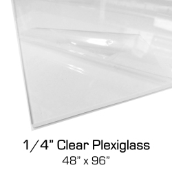 "1/4"" x 48 x 96 Clear Plexiglass Acrylic Sheets for Sneeze Guards"