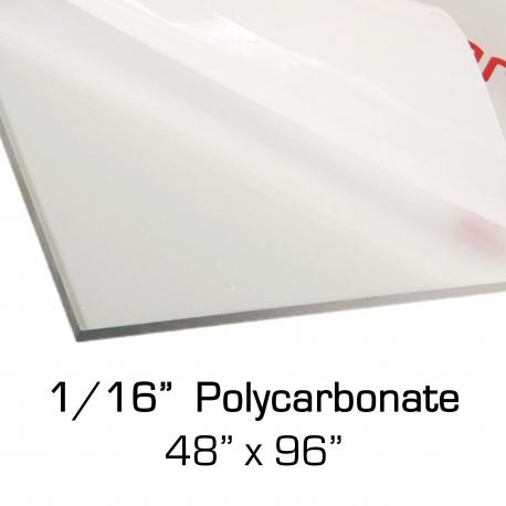 """Polycarbonate Sheet 48"""" x 96"""" x 0.0625"""""""