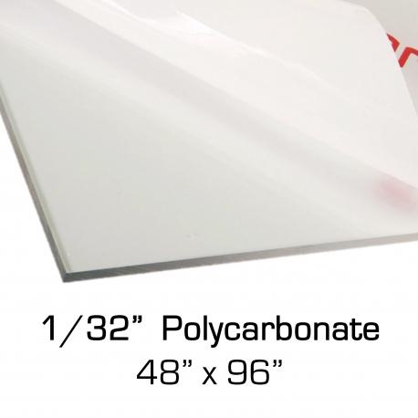"""Polycarbonate Sheet 48"""" x 96"""" x 0.03"""""""