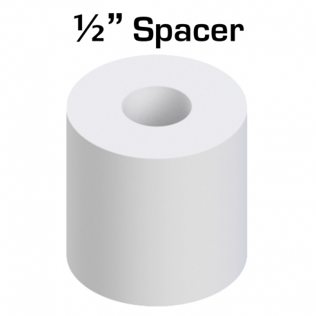 "Nylon Spacer 1/2"" Thick, 1/2"" OD 0.194"" ID, 50 pack"