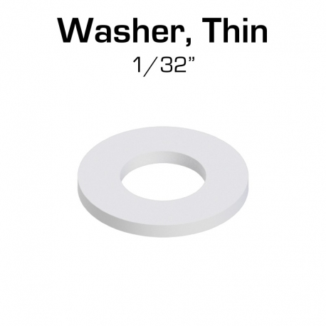 "Nylon Washer, Thin (1/32""), 100 Pack"