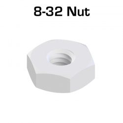 Nylon Hex Nut, 100 Pack