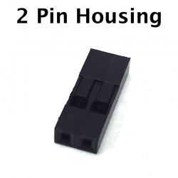 2 Pin Connector Housing, 10 Pack