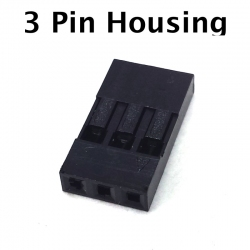 3 Pin Connector Housing, 10 Pack