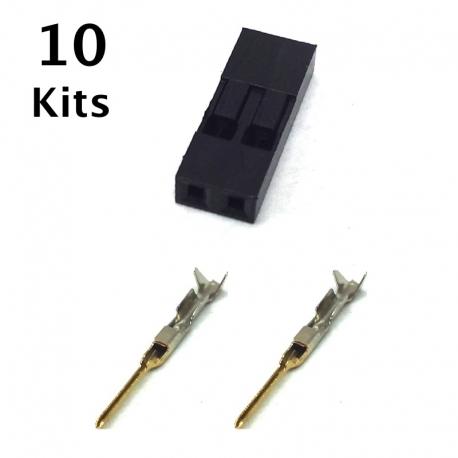 2 Pin Male Connector Repair Kit