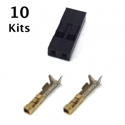 2 Pin Female Connector Repair, 10 Kits