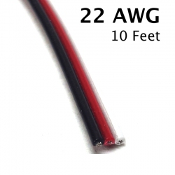 3 Conductor Cable, 22 AWG, 10 Feet