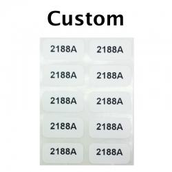 "Custom Printed Stickers, 0.5"" x 1"", 1 Line, 10 Pack"