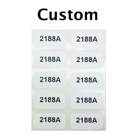 "Custom Printed Stickers, 0.5"" x 1"", 1 Line, 10 Pack"