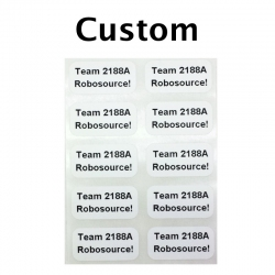 "Custom Printed Stickers, 0.5"" x 1"", 2 Lines, 10 Pack"