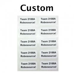 "Custom Printed Stickers, 0.5"" x 1"", 2 Lines, 10 Pack"