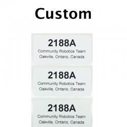 "Custom Printed Stickers, 1"" x 2"", 10 Pack"