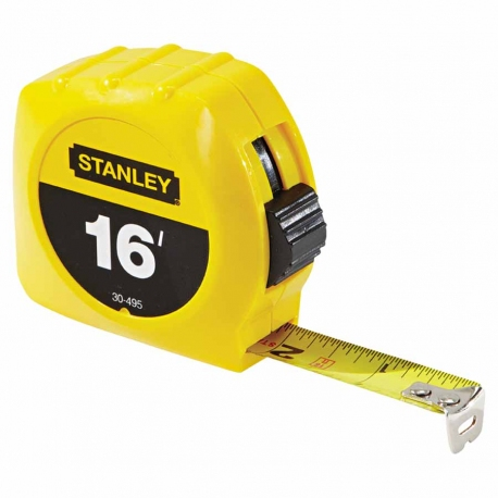 Stanley Tape Measure, 3/4 in x 16 ft