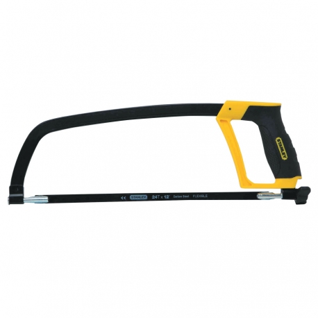 "Stanley Rubber Grip Hacksaw, 12"", Includes 24 TPI Blade"