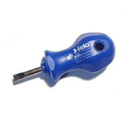 "Felo 7/32"" Slotted Drive Stubby Screwdriver, Blue 800"