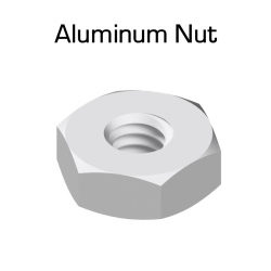 Aluminum Hex Nuts, 100 Pack