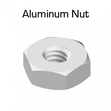 Aluminum Hex Nuts, 100 Pack