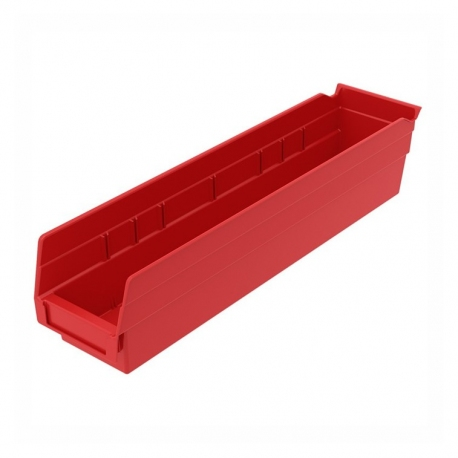 "Shelf Bin 18"" x 4"" x 4"", Red"