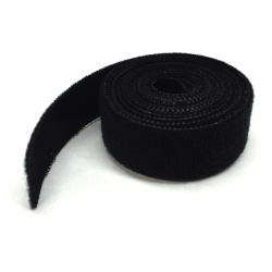 Hook & Loop Fastening Wrap/Tape, 5 ft, Black