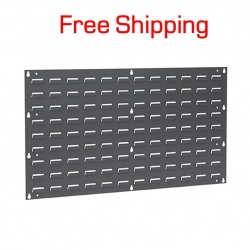 "Louvered Panel for Hanging Bins, 36"" x 19"""