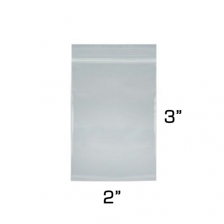 "2""x3"" Zip Lock Bags, 100 Pack"