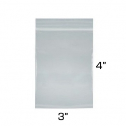 "3""x4"" Zip Lock Bags, 100 Pack"