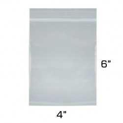 "4""x6"" Zip Lock Bags, 100 Pack"