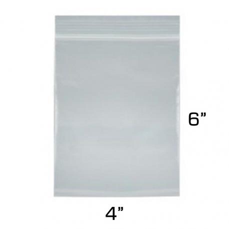 """4""""x6"""" Zip Lock Bags, 100 Pack"""
