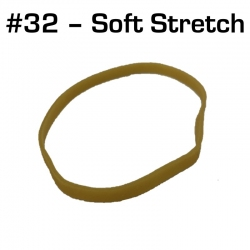 Soft Stretch Rubber Bands, Size 32, 25 pack