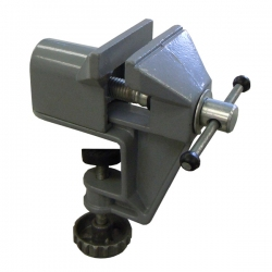 Portable Aluminum Mini-Vise, Tabletop Clamp-on