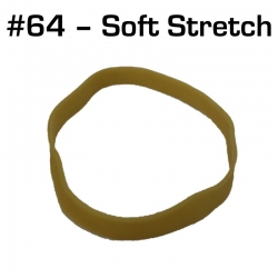 Soft Stretch Rubber Bands, Size 64, 25 pack