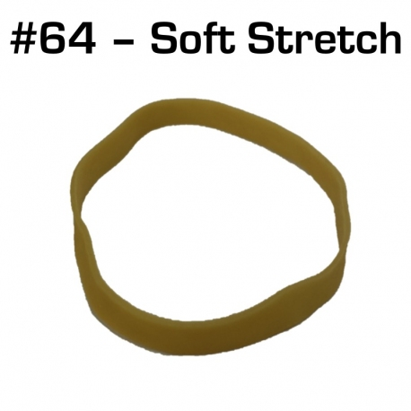 Soft Stretch Rubber Bands, Size 64, 100 pack
