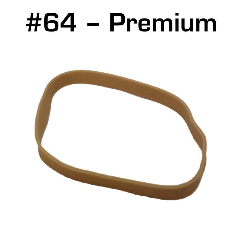 Premium Rubber Bands, Size 64, 25 pack - Robosource.net